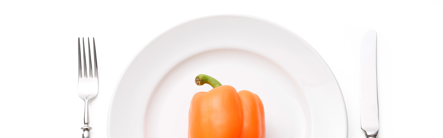Plate with Pepper on it