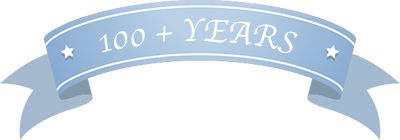 100 plus Years banner